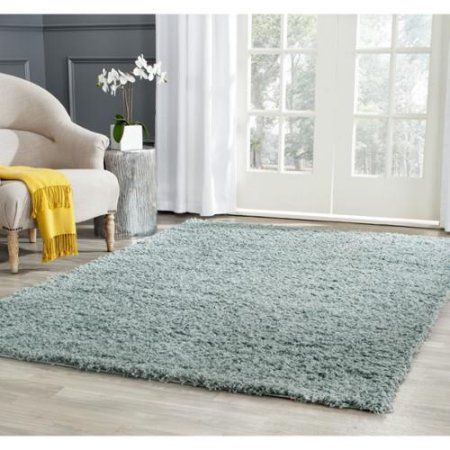Safavieh Athens Shag Seafoam Area Rug 9 X 12 Sga119d 9 Light Blue Area Rug Area Rugs Solid Rugs