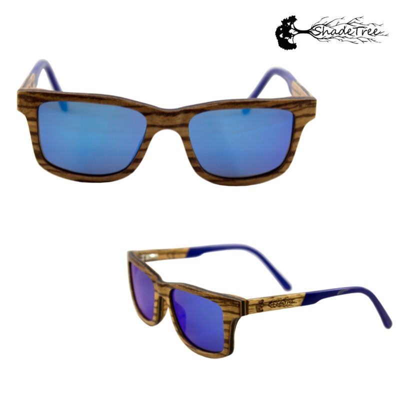 bf8da16e10 Fusion Blue - Zebra Wood!  Sunglasses! Delightful combination of zebrawood  and modern acetate brings beautiful example of the old world colliding with  the ...