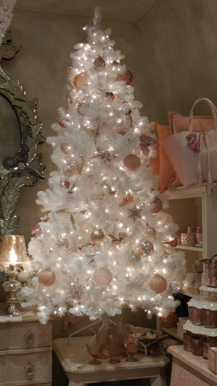 White And Pink Christmas Tree White Christmas Tree Decorations Rose Gold Christmas Tree Silver Christmas Tree