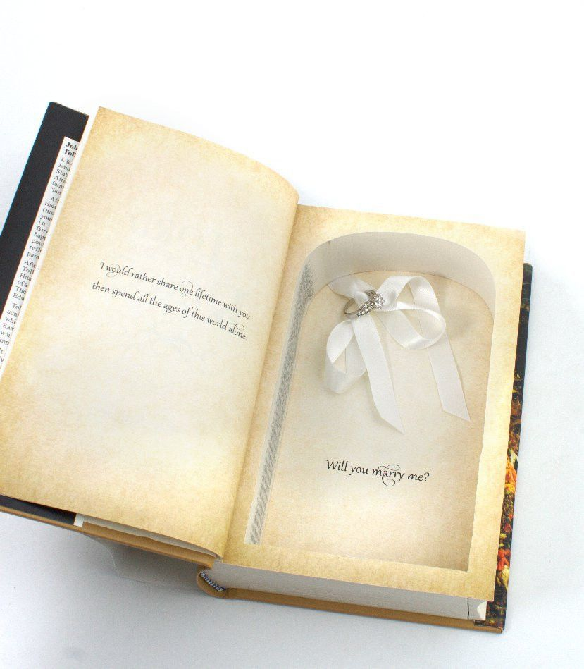 Proposal Ring Book Safe Lord of the Rings Ready to ship The
