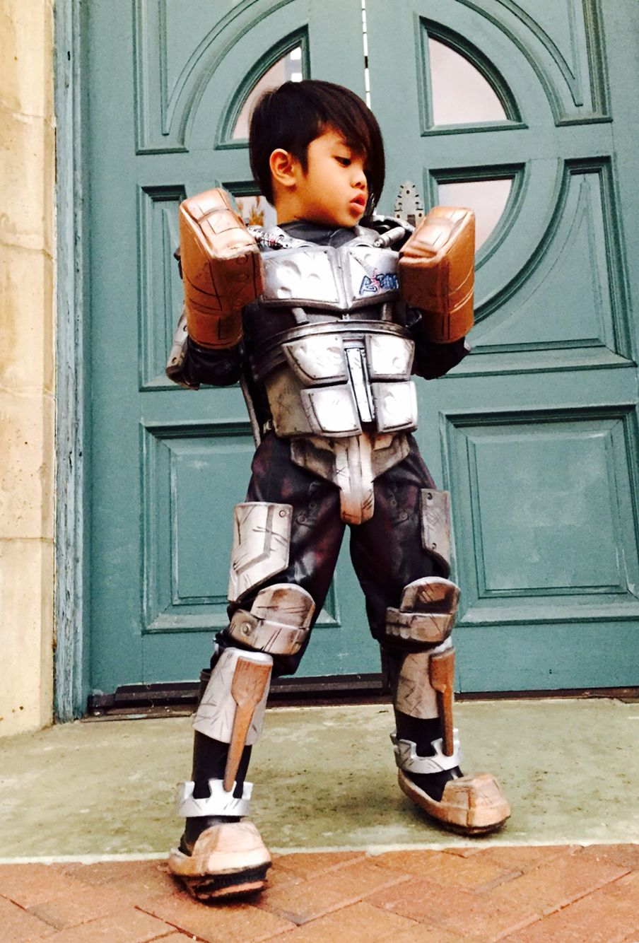 Homemade Halloween Costume Atom From Real Steel The Kids