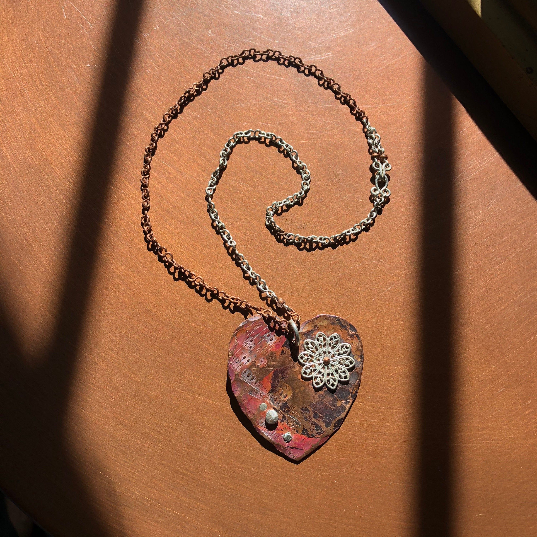 Photo of Grobe Liebe Kupfer Halskette