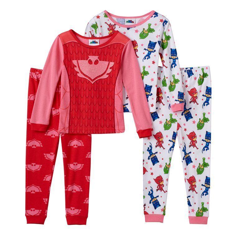 cd658a87 Toddler Girl PJ Masks Catboy, Gekko & Owlette 4-pc. Pajama Set, Size: 2T,  Multicolor