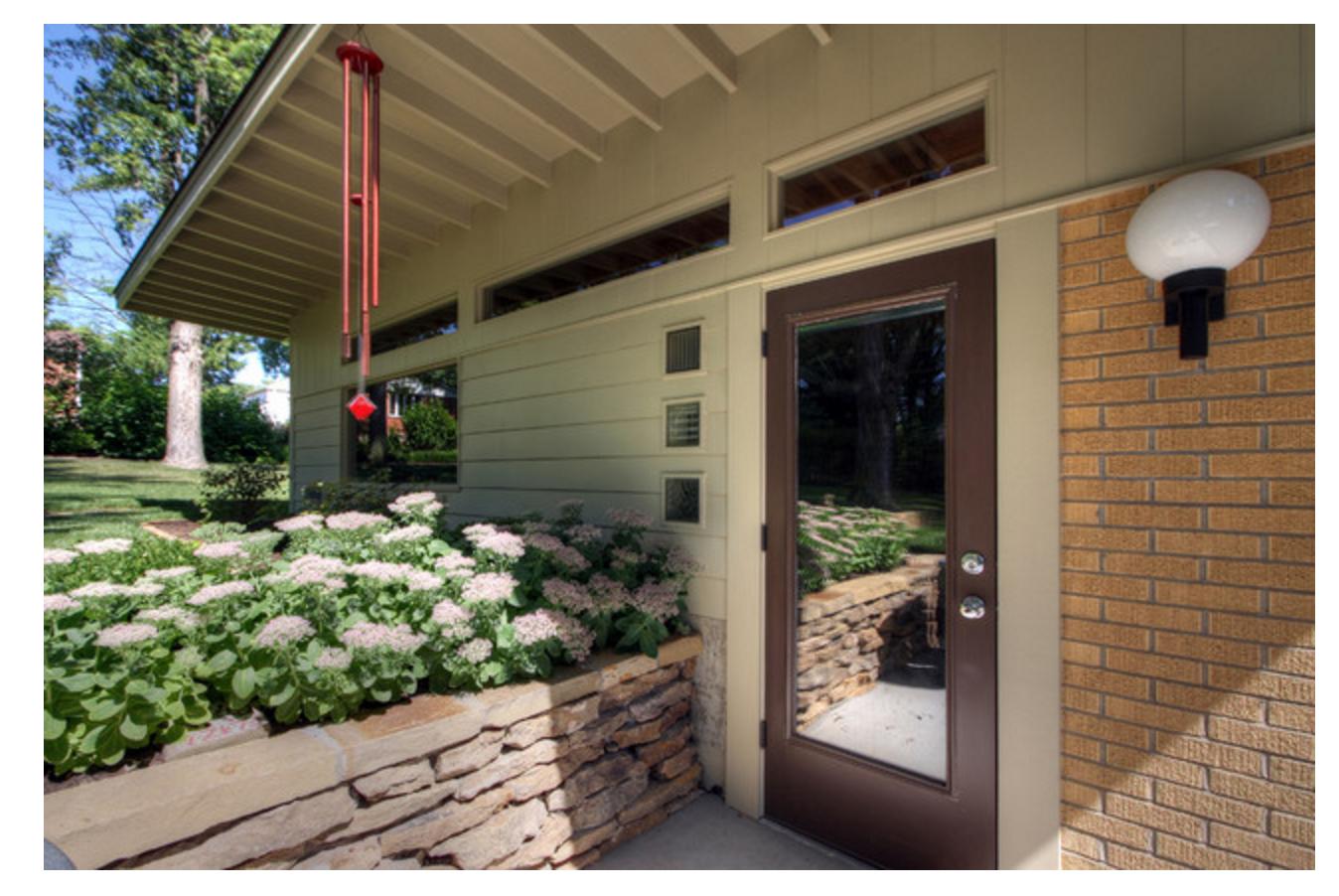 Garage view | Garage design, Mid century modern house ...