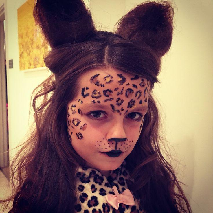 Halloween kids children dress up costume cheetah