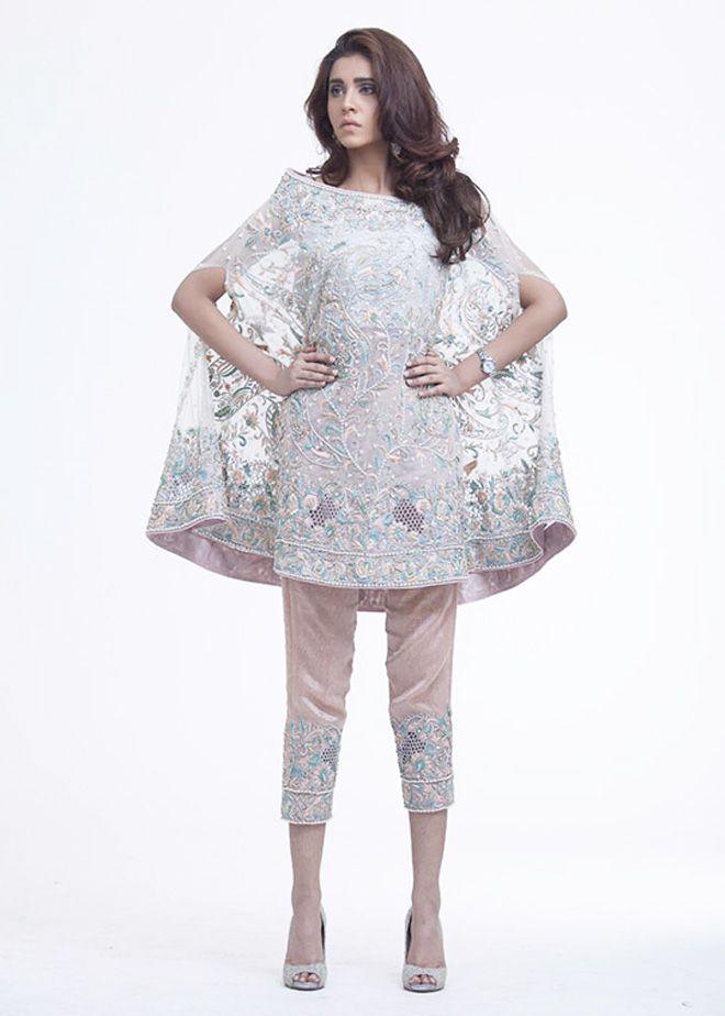 Latest Pakistani Cape Style Dresses 2017 2018 Designer Collection Fashion