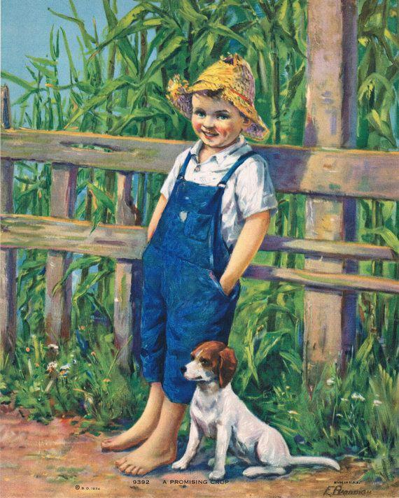 A Promising Crop Calendar Art by RedfordRetro on Etsy, $15.00