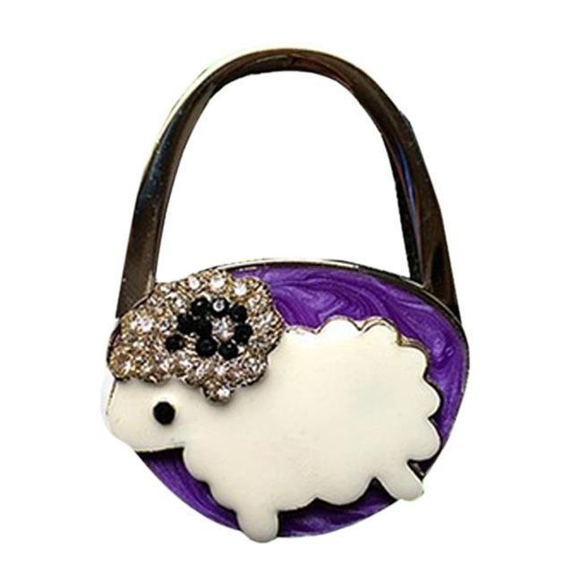 New Lovely Colorful Folding Handbag Purse Tote Bag Hanger Decor Holder Table Hook For Gift E2shopping