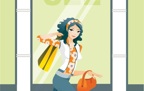 Mujeres de compras para imprimir gratis | Ropa | Pinterest ...