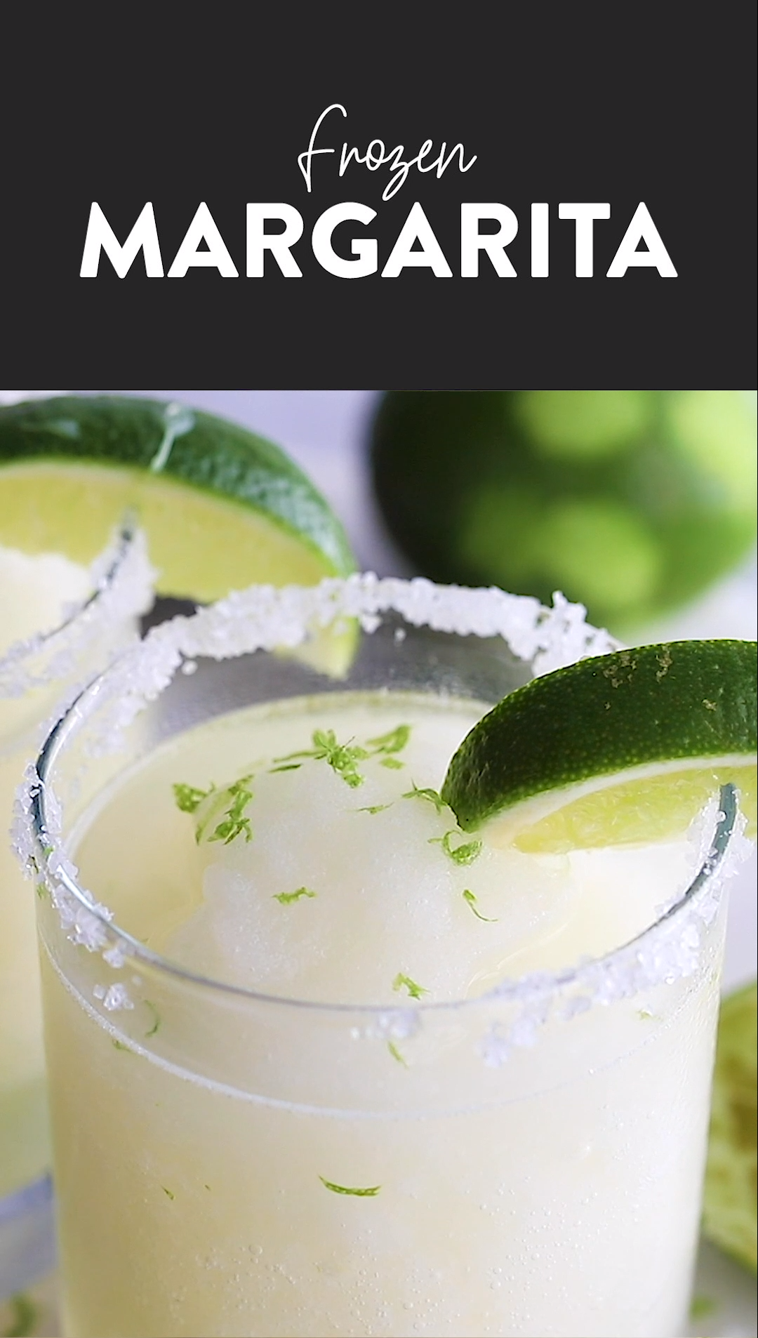 5 Minute Frozen Margarita Recipe #frozenmargaritarecipes