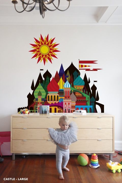 Totally Kids Totally Bedrooms: Imaginary Castle Wall Decal. Totally Perfect For A Kids