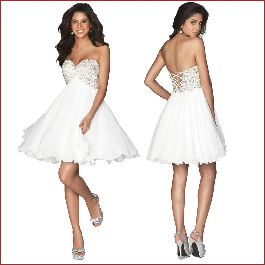 Collection Short White Dresses Cheap Pictures - Reikian