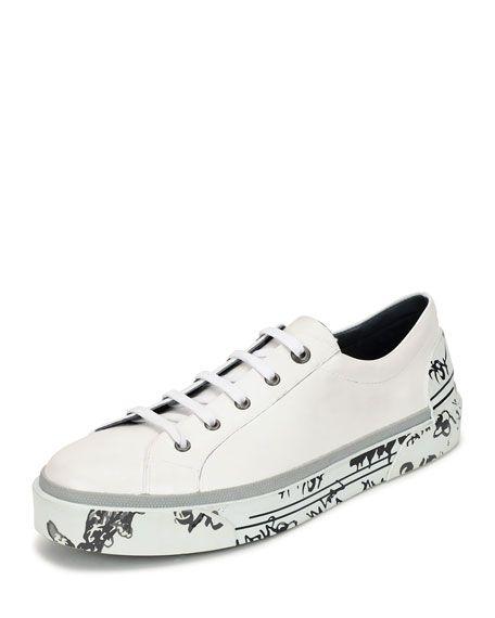 Leather Sneakers - WhiteLanvin R4hF0z6Ii
