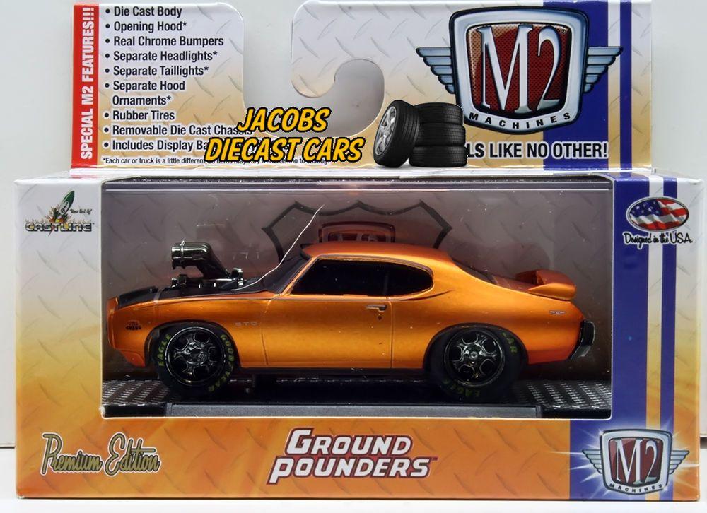 1 64 M2 Machines Ground Pounders R15 1969 Pontiac Gto Judge