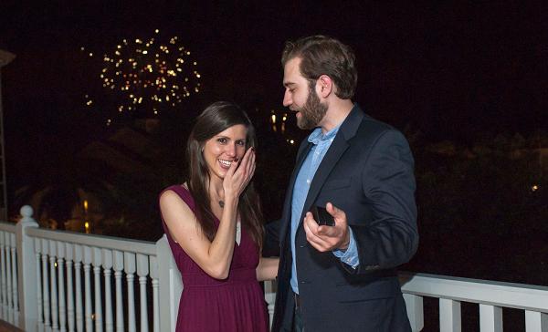 Disney proposal with fireworks