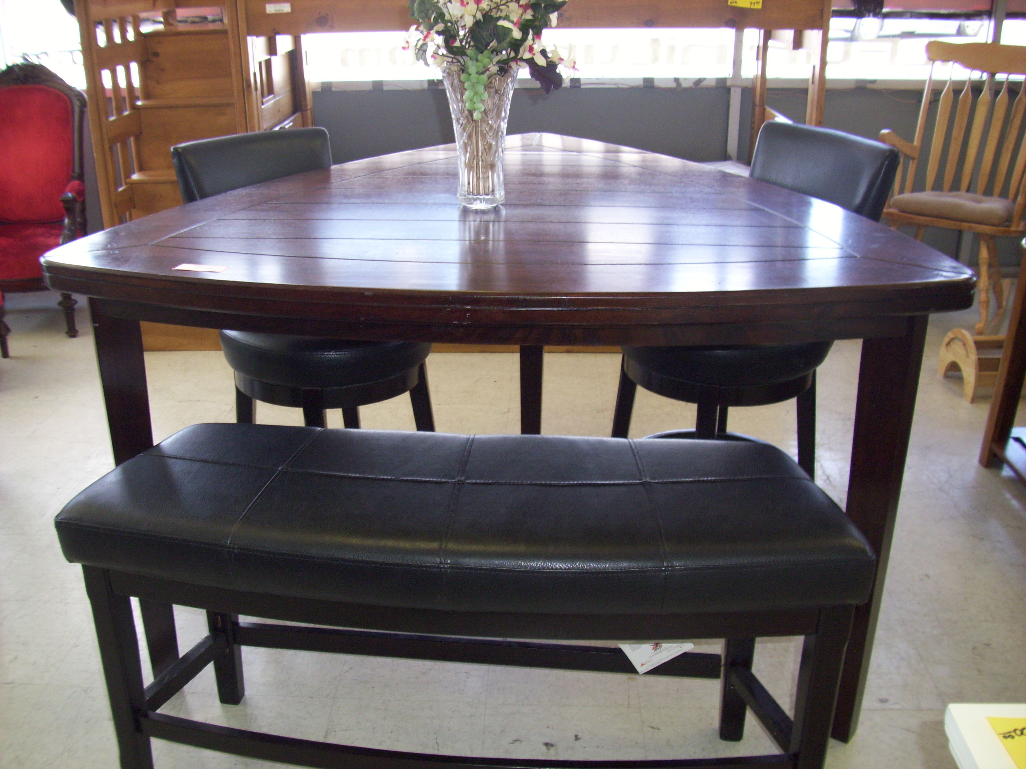 Brilliant 4 Piece Triangle Pub Table Sold Consignment Furniture Home Interior And Landscaping Dextoversignezvosmurscom
