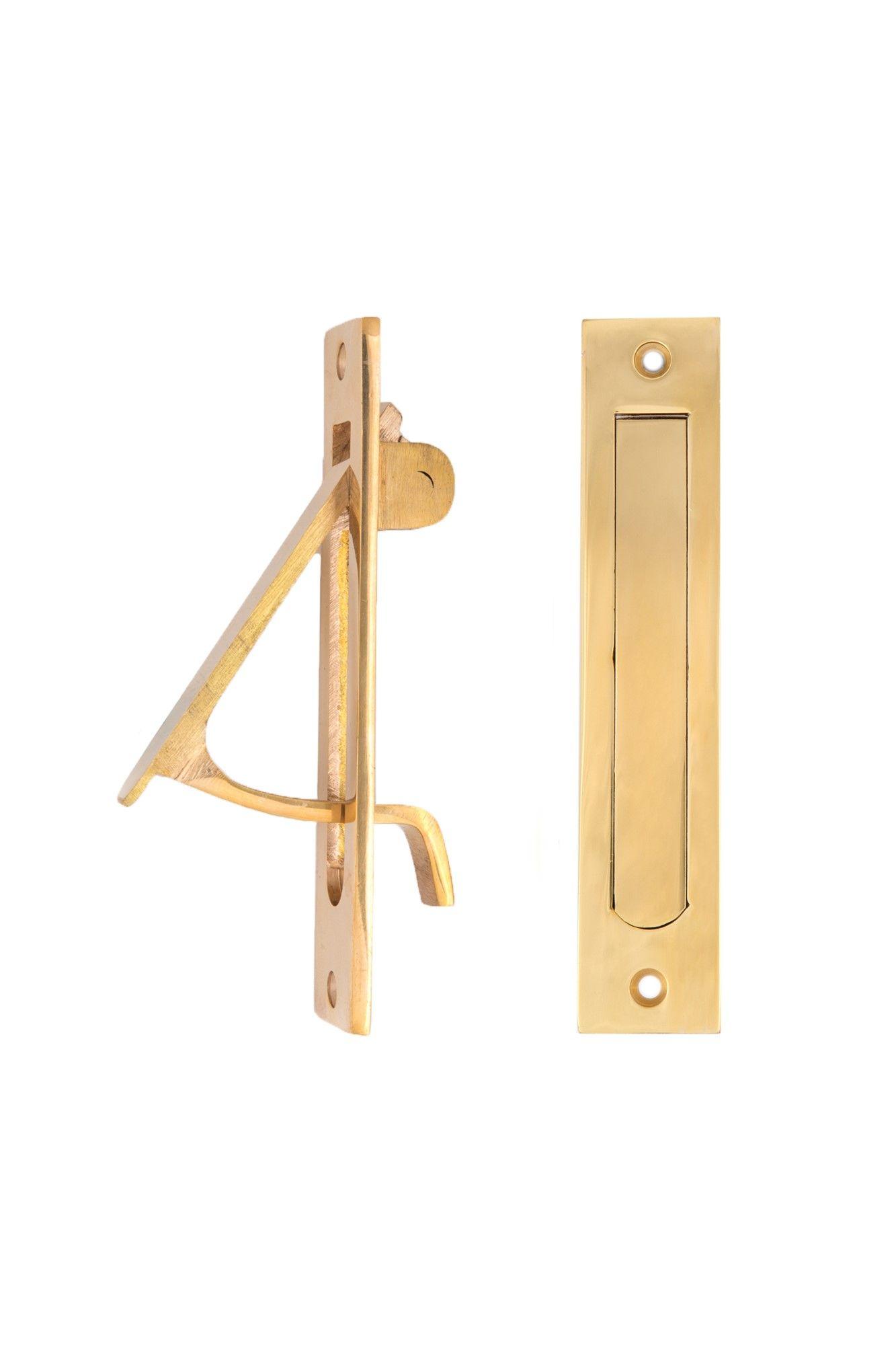 Universal Size Pocket Door Edge Pull 2106 Usxxx Pocket Doors Brass Door Unlacquered Brass