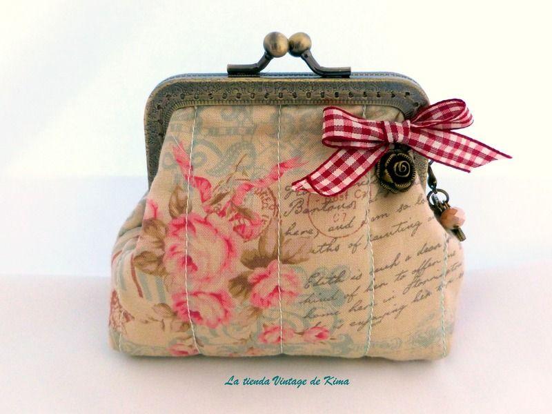comprar online mayor selección suave y ligero Monedero tela con boquilla de La Tienda Vintage de Kima por ...