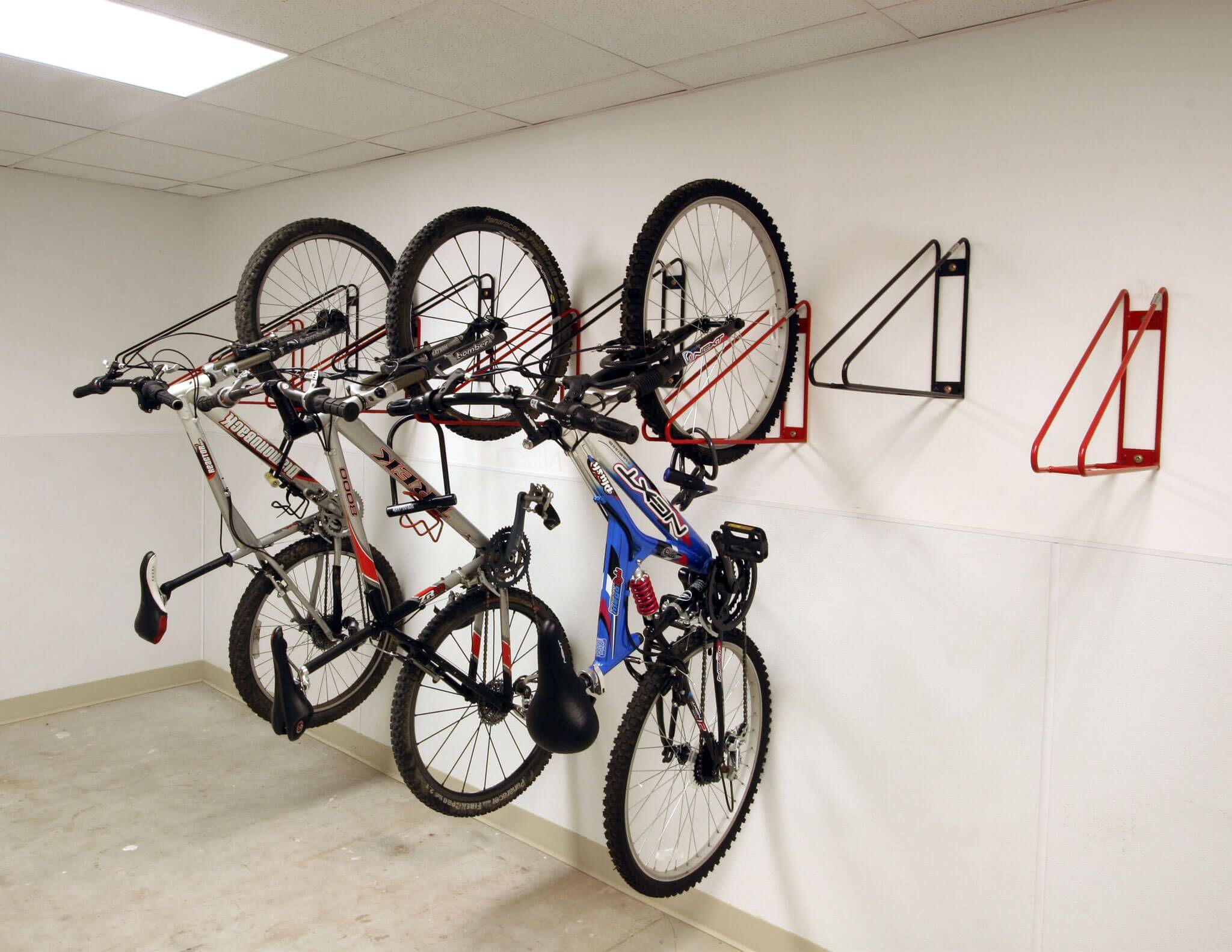 Bike Room With Bike Wall Racks At Wesleyan University Bike Rack Wall Wall Mount Bike Rack Bike Storage Room