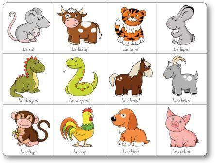 Souvent Jeu de mémory des signes astrologiques chinois : les animaux  GA22