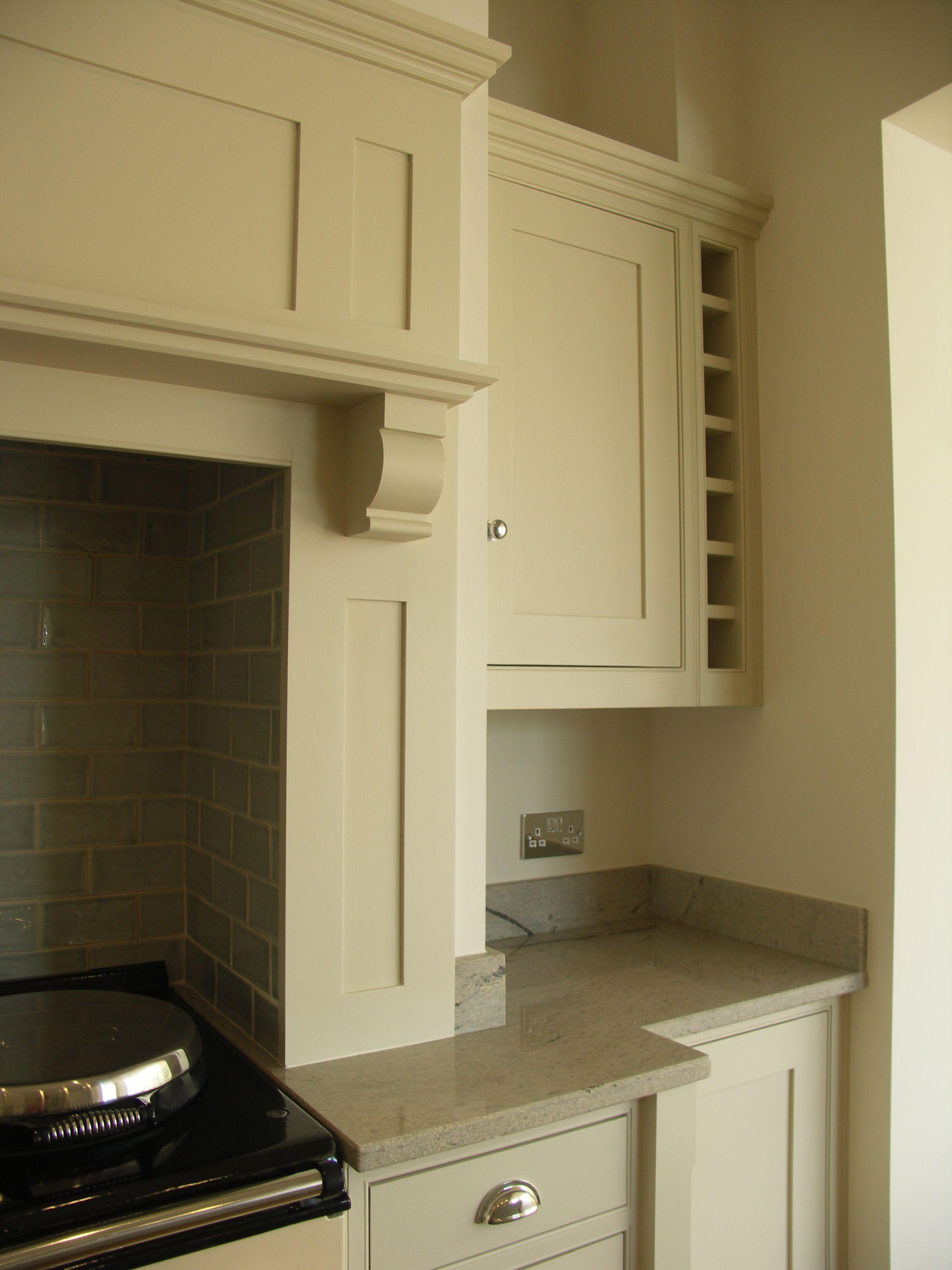 Kitchen Mantel Solid Tulipwood Aga Mantel Sat Onto Ivory Spice Granite Worktops