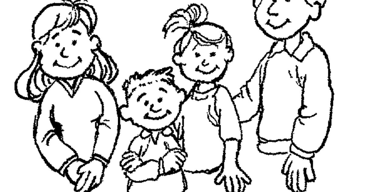 Family Portrait My Family Clipart Black And White Family Portrait My Family Clipart Black And W Family Coloring Pages Clipart Black And White Family Coloring