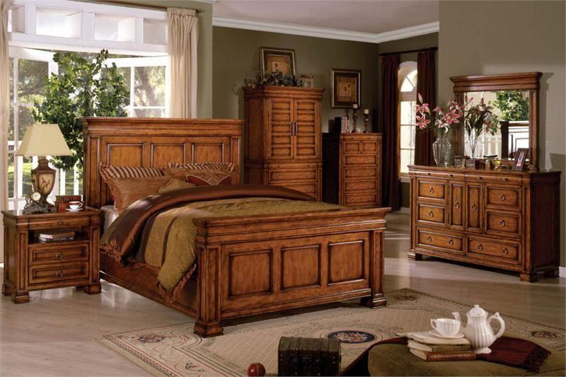 Solid oak bedroom furniture sets cabinets and storage design rustic ...