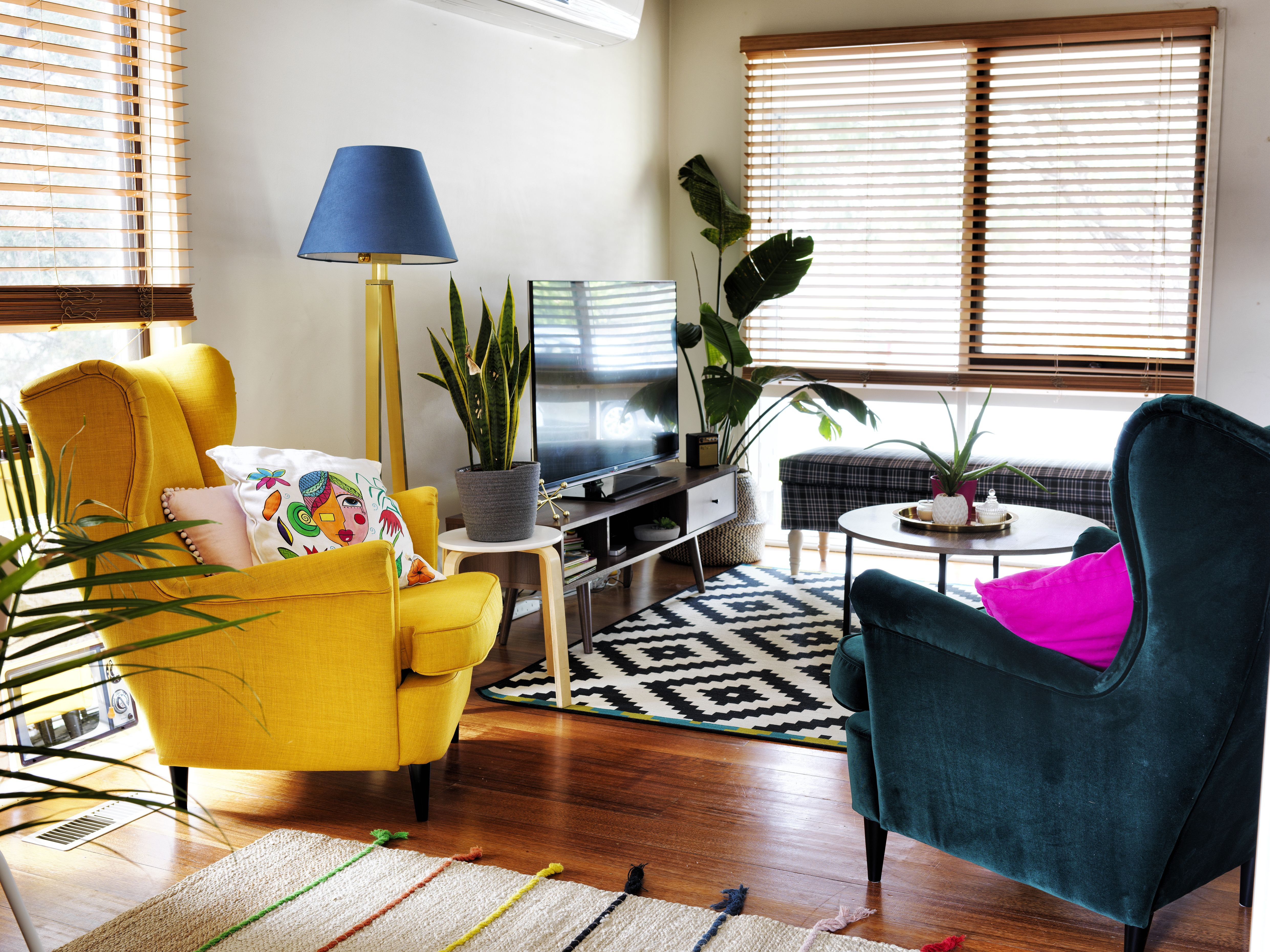 bring colour into your living room with furniture and