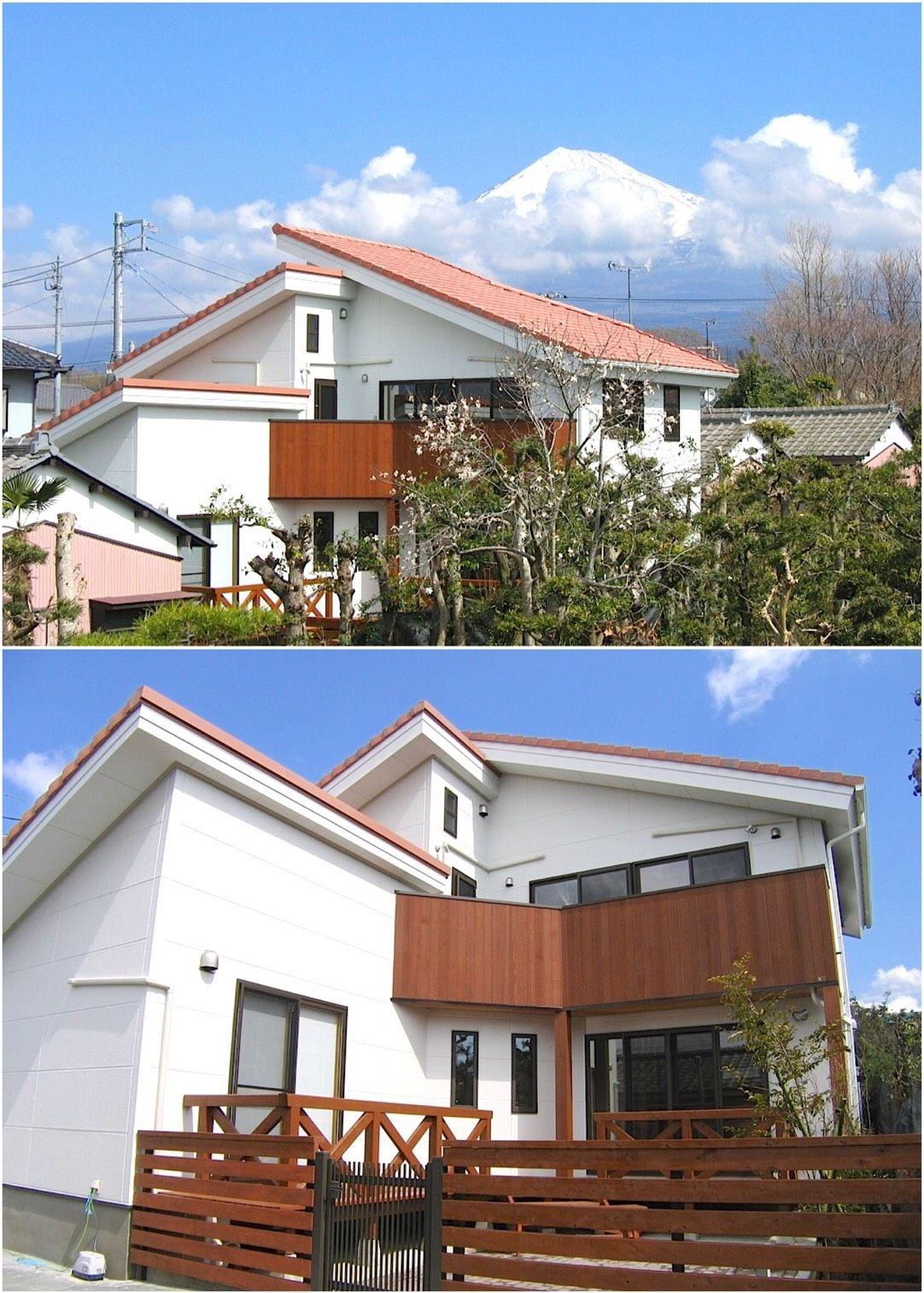 白壁と洋瓦が素敵な ヨーロッパ風の住宅 家 マイホーム マイ