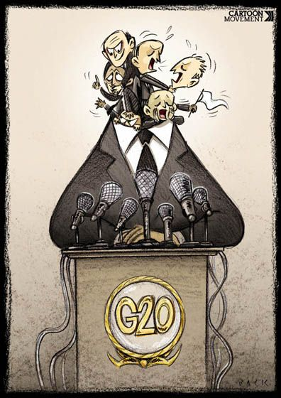 G20 leaders divided over Syria. Today's cartoon by Giacomo Cardelli.