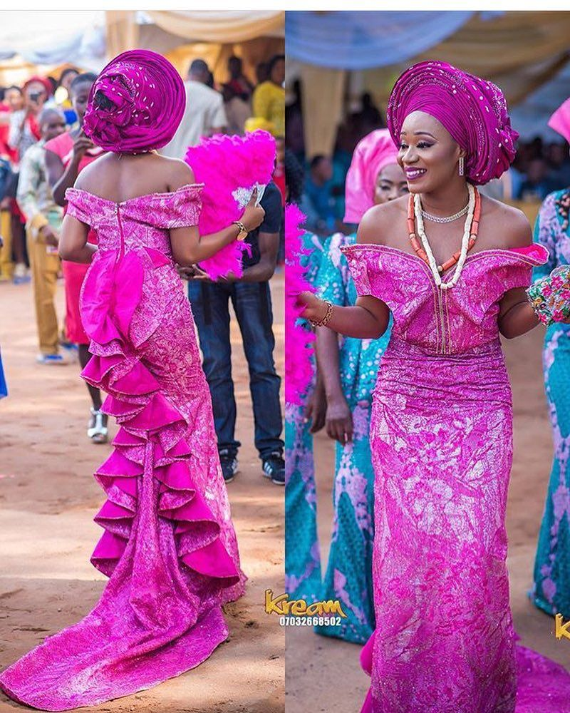 Beautiful bride Dress @dressuplus Glam @oshewabeauty Gele @tboygele ...