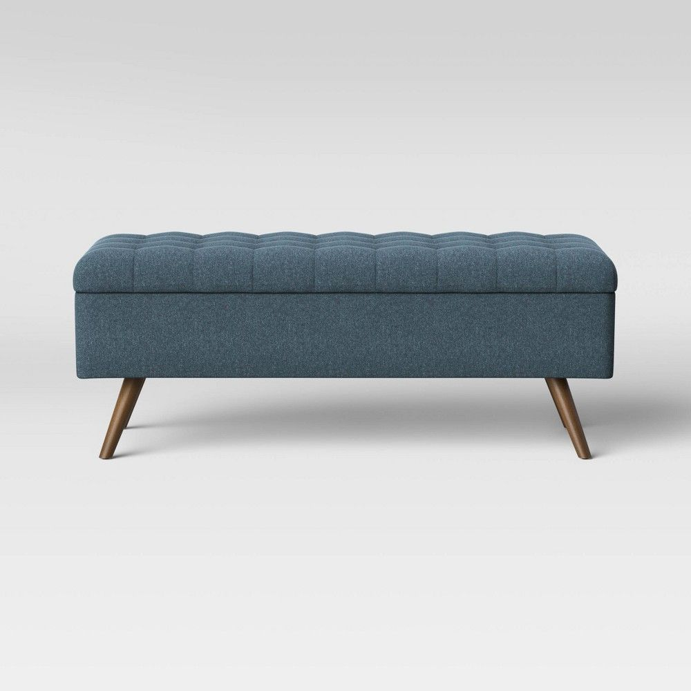 Arthur Tufted Storage Bench Blue Project 62 In 2020 Tufted Storage Bench Modern Storage Bench Bench With Storage