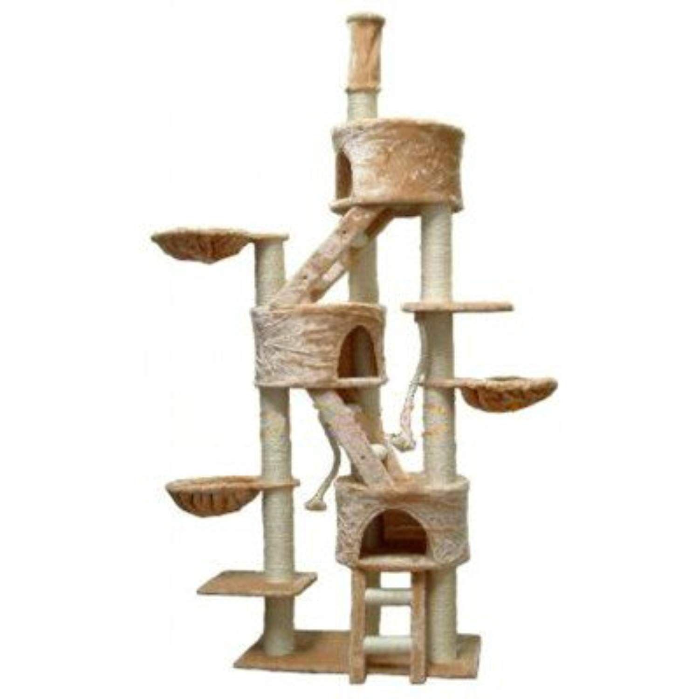 Tower climbing cat tree stairs condo uu furniture house beige