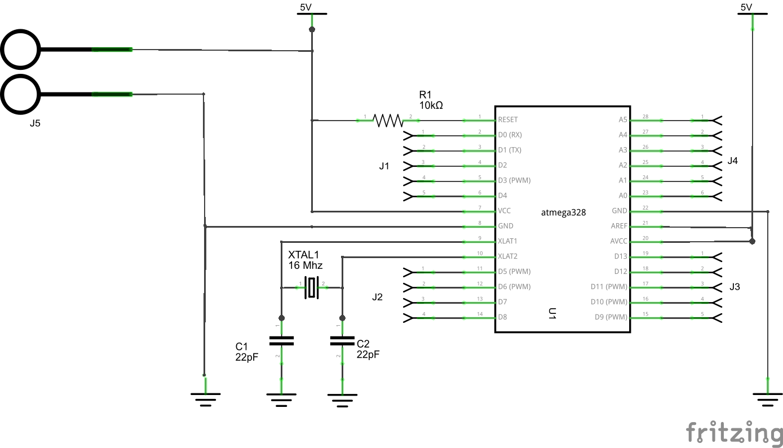 Barebones arduino with no PSU example schematic #arduino ...
