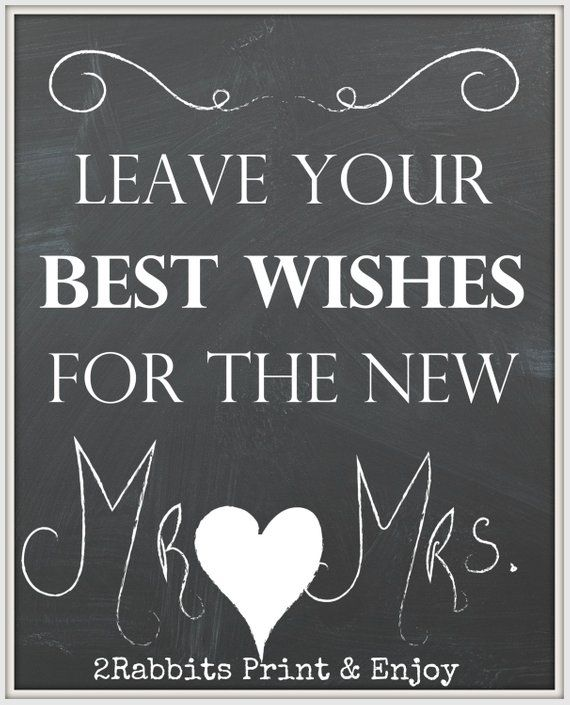 Best Mr And Mrs Questions: Best Wishes For Mr & Mrs- Sign For Your Wedding -Wedding