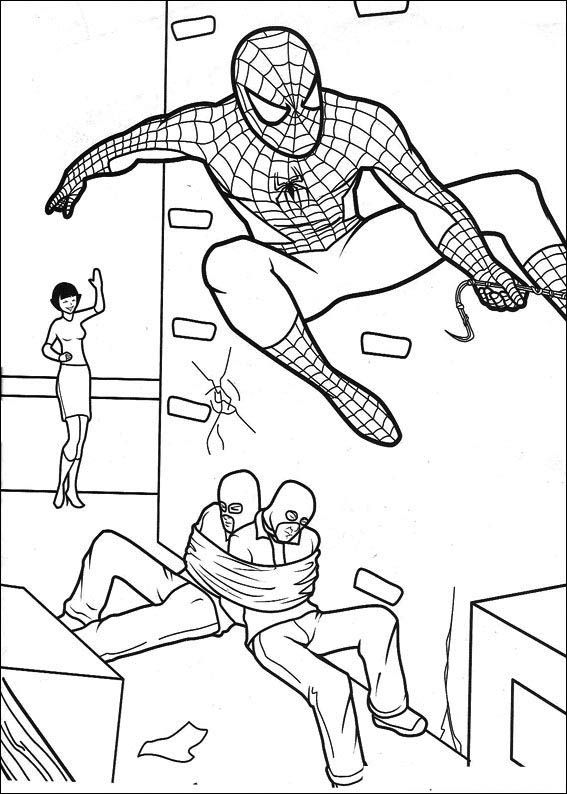 Ausmalbilder Superhelden: Spiderman Ausmalbilder 15