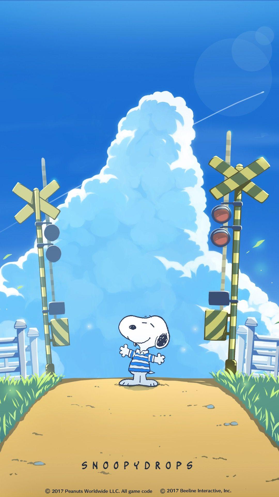 Snoopy At Railroad Tracks 画像あり スヌーピーの壁紙 携帯電話