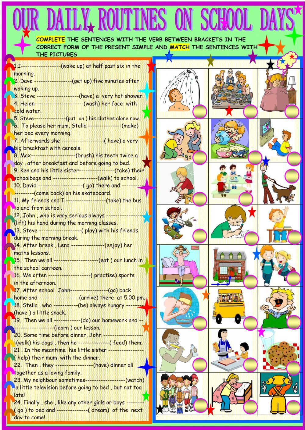 Daily Routines Interactive And Downloadable Worksheet You Can Do The Exercises Online Or Download Regular And Irregular Verbs Irregular Verbs Verb Worksheets