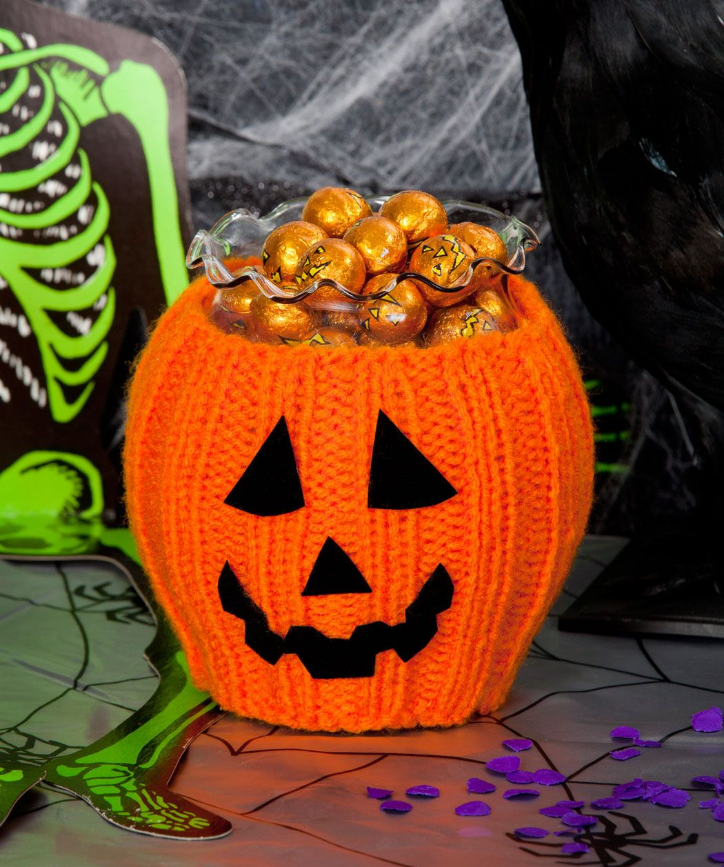 Pumpkin Bowl Cozy Knitting Pattern #knit #halloween ...