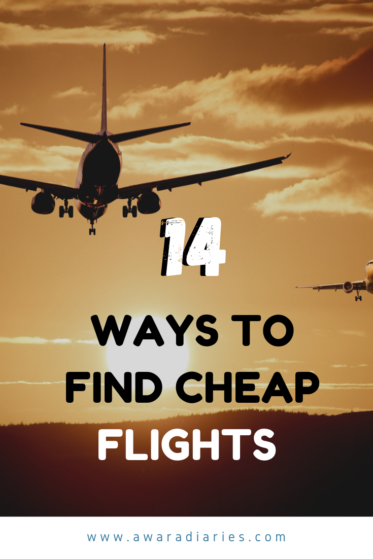 Cheap flights are the first step to an amazing vacation. Here are 14 hacks and tips to score cheap flights to anywhere in the world.  #cheapflights #travelhacks #tips #budgettravel
