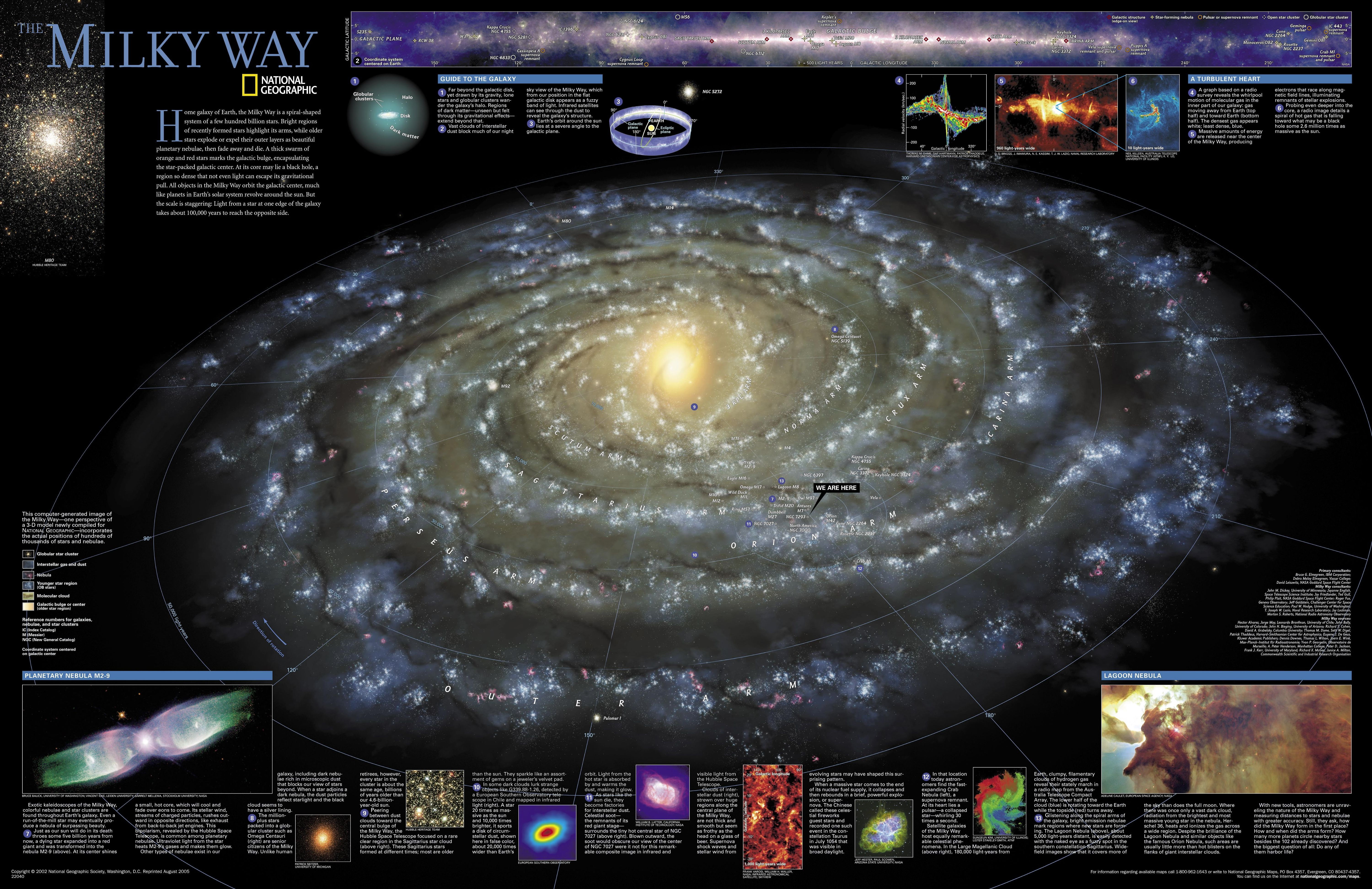 Geographic Map Of Earth.Large Detailed Map Of The Milky Way From The National Geographic
