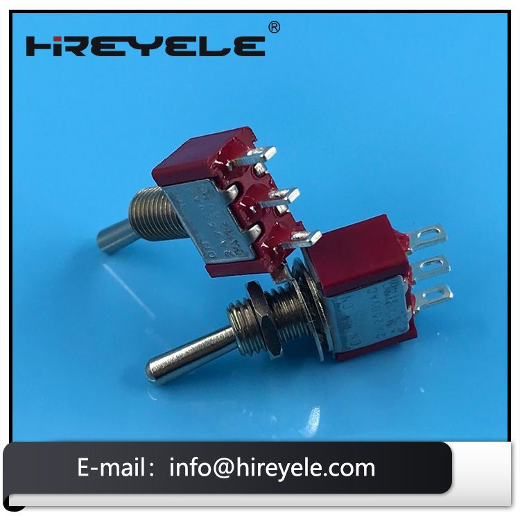 Momentary 3 Way Spdt Mini Toggle Switch Flat Lever For Guitar Toggle Switch Switch Toggle