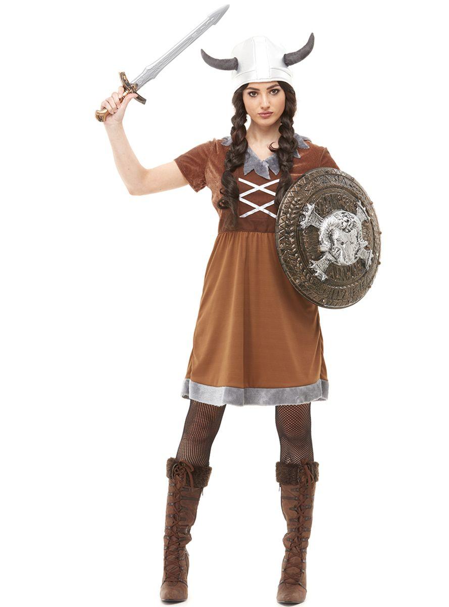 Funidelia womens viking costume | viking costume, female viking