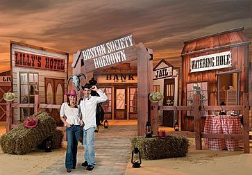 Setting Up Old Saloon Decor Western Theme Prom Ideas Event