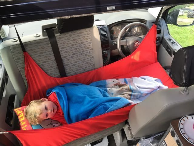 Kiravans T5 Cab Childs Bunk Bed Storage The Red Bed Campervan
