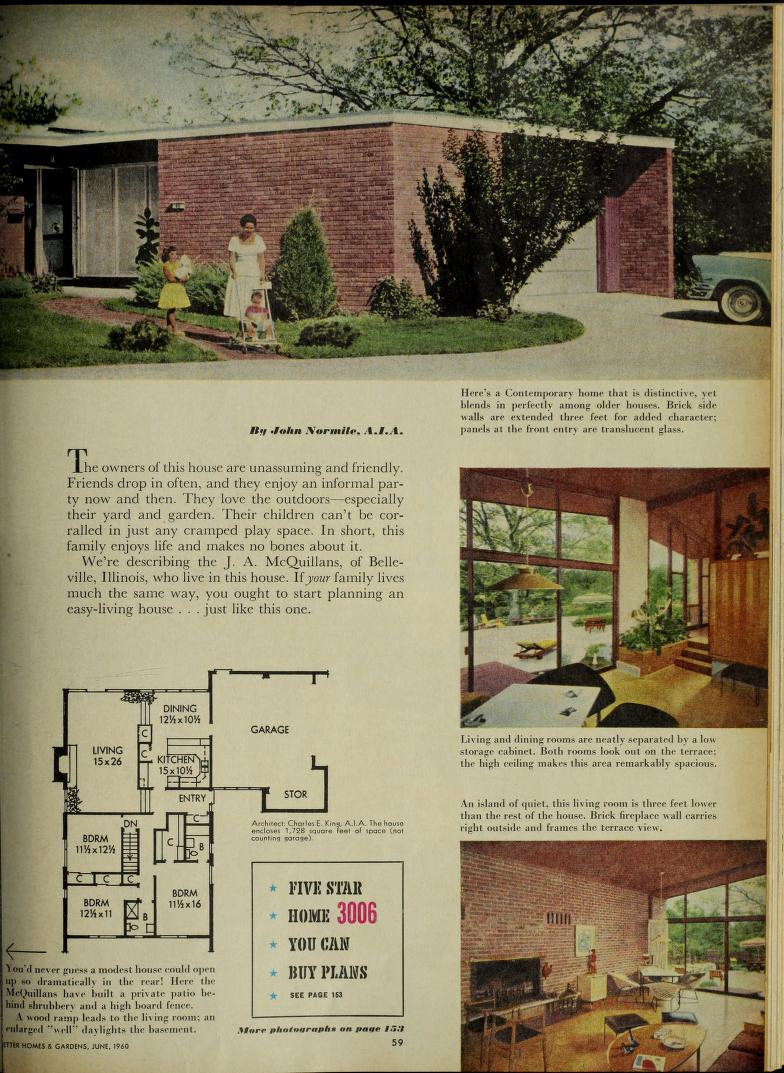 Better Homes And Gardens Free Download Borrow And Streaming Internet Archive Mid Century Modern House Plans Mid Century Modern House Vintage House Plans
