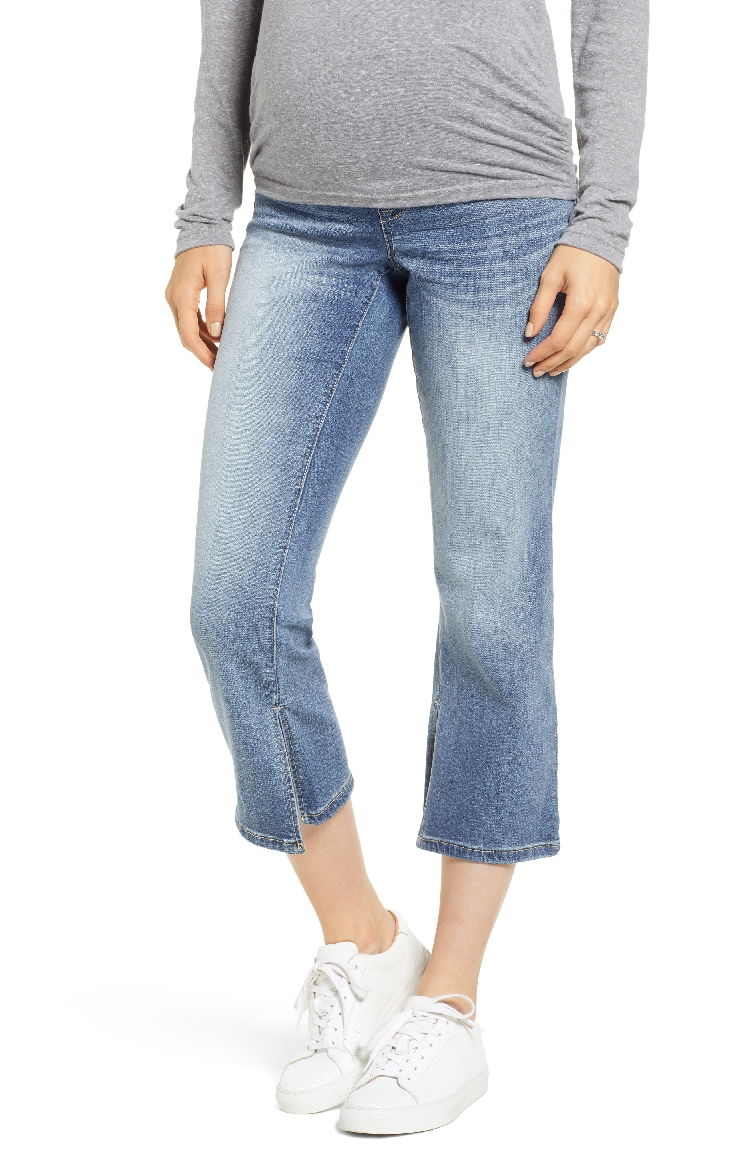 8bb3e8cee3631 Women's 1822 Denim Slit Cuff Bootcut Maternity Jeans, Size 24 - Blue ...