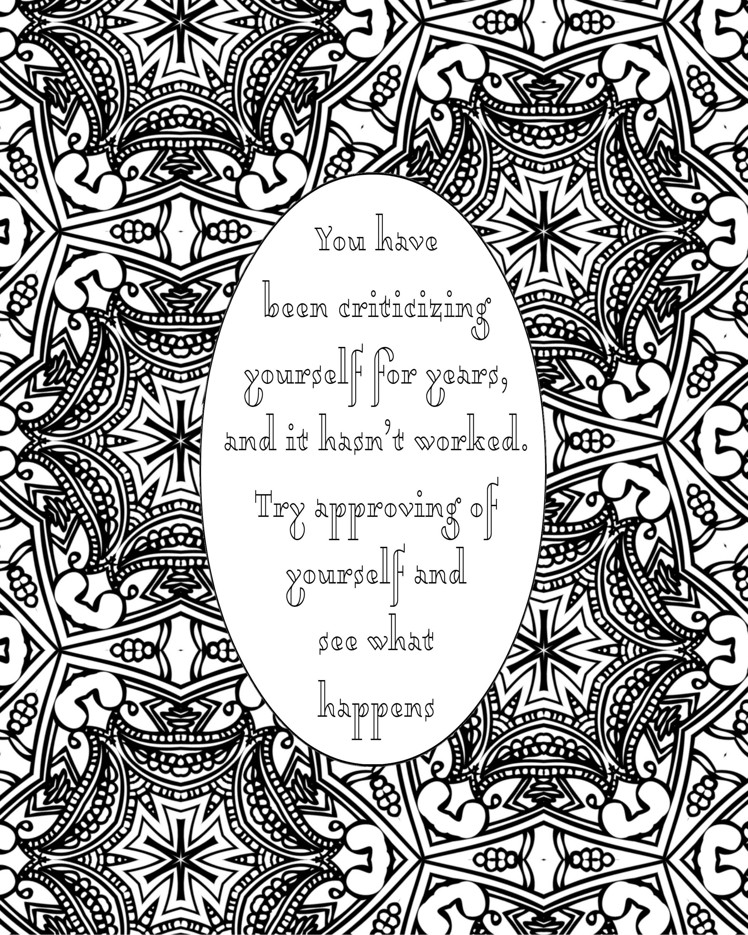 5 Self Love Worth Printable Coloring Quotes Pages Pdf With Images