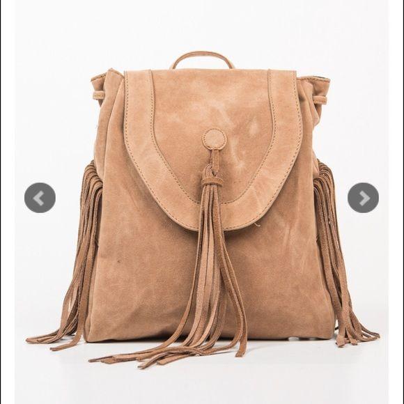 Stolen hearts Bags - Brown/Camel Fringe backpack/purse