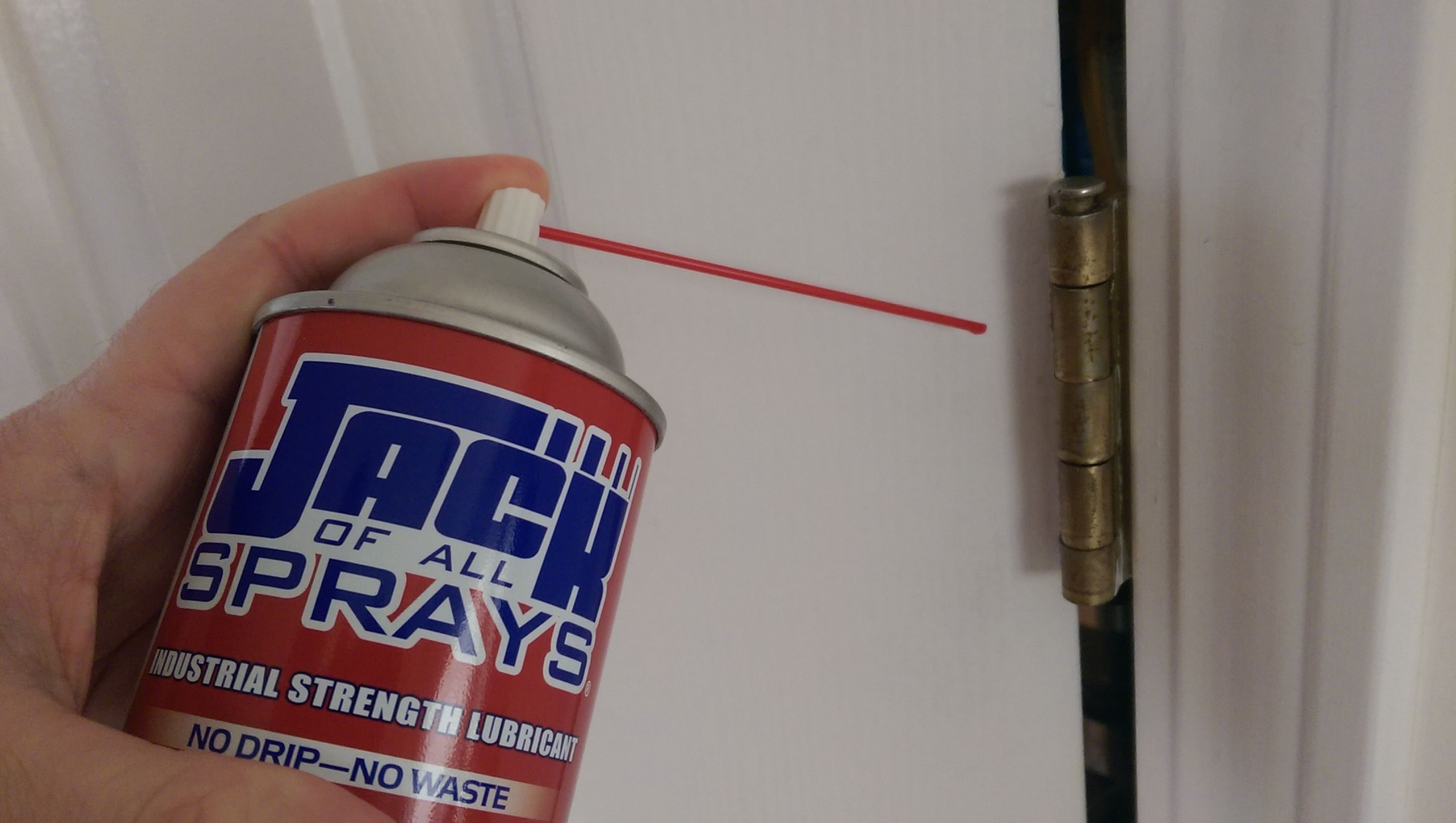 A Squeaky Door Hinge Is No Match For Jack Of All Sprays Oil And